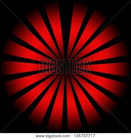 Red sunburst abstract background