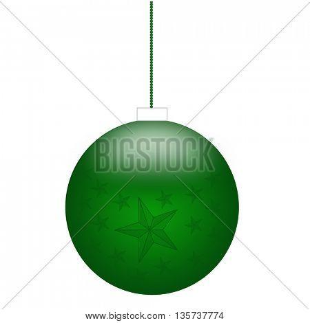 Beautiful green Christmas decoration