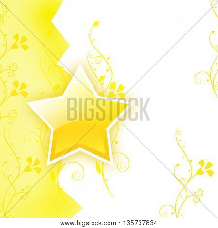 Glowing star background