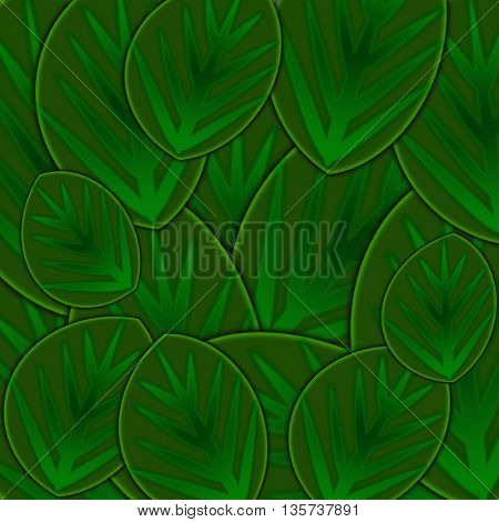 Beautiful green background made of leaves