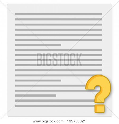 notebook paper and questionnaire