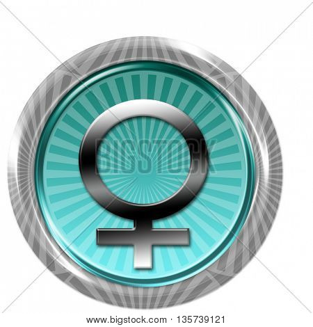 Button with female sign