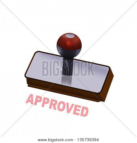 an approved rubber stamp