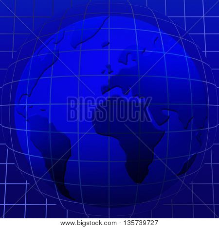 world map over the Earth Globe