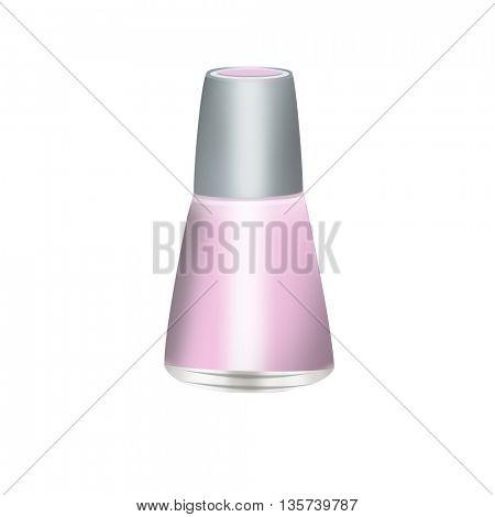 Nail Polish bottle isolated on white