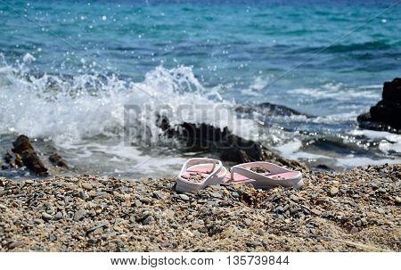 Flip-flops On Beach