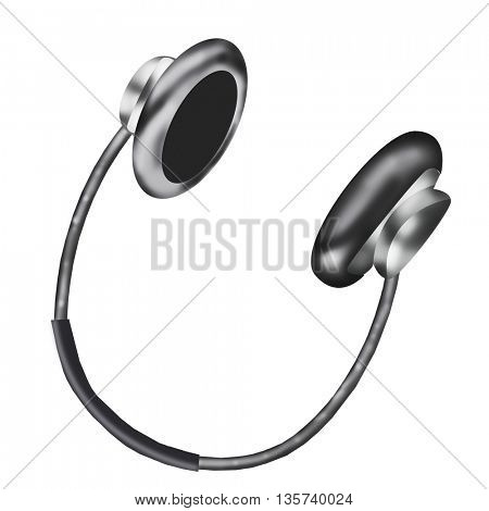 Professional icon of the headphones for your site