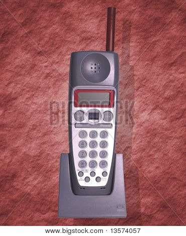 Isolated Red Phone