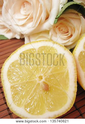 lemons and rose