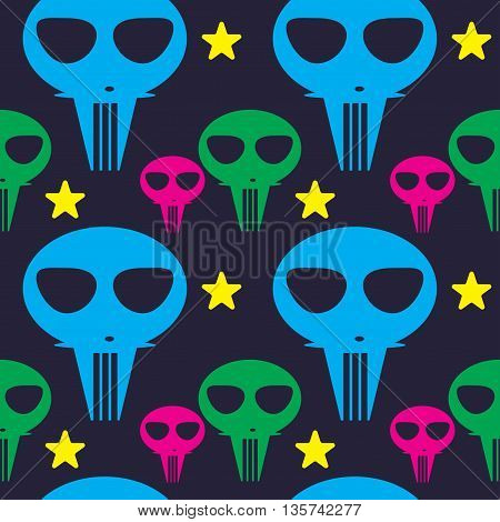 pattern colors aliens cartoon cute monsters illustration