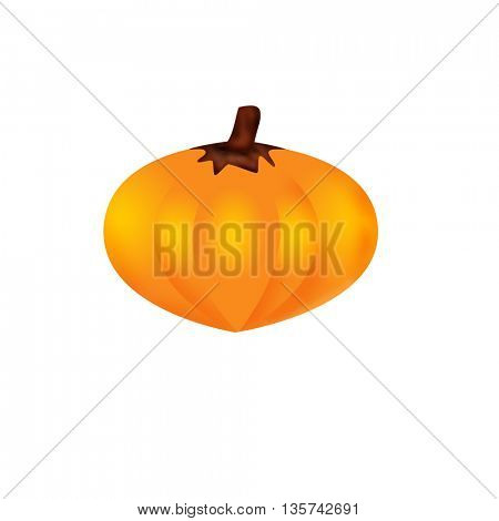 yellow halloween pumpkins on white background, isolated