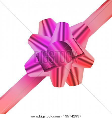 Decorative realistic ribbon.