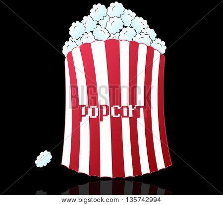 image of classic movie-theater popcorn box (full )