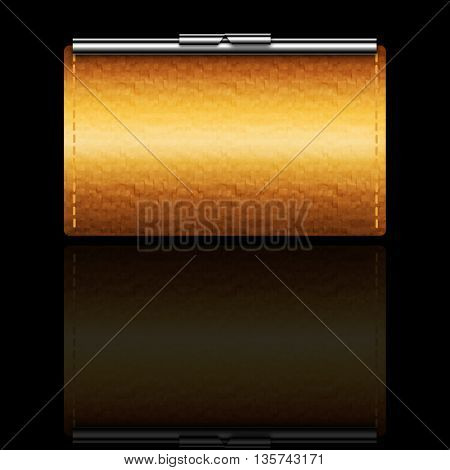 illustration of brown leather wallet
