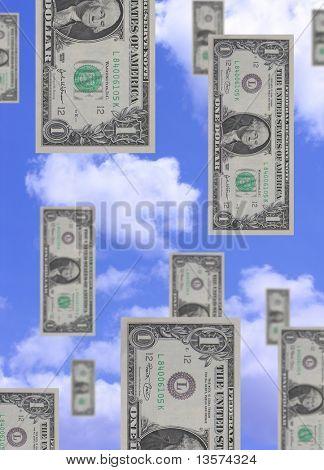 Geld vom Himmel fallen