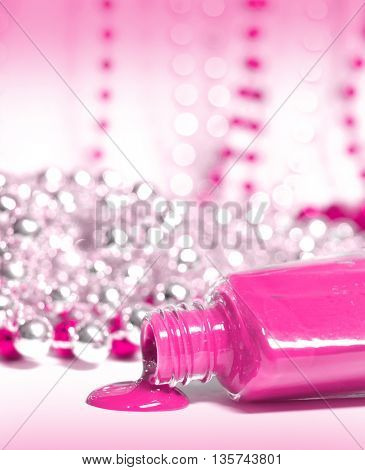 Isolated Nail Polish Spilling