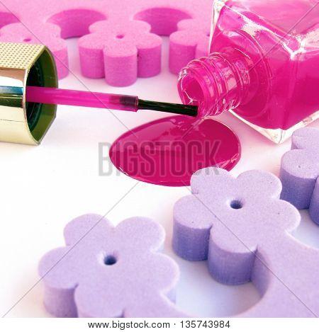 spilled nail polish
