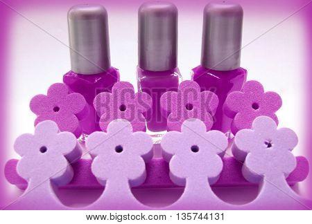 3 red nail polish