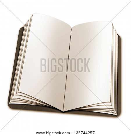open book with blank