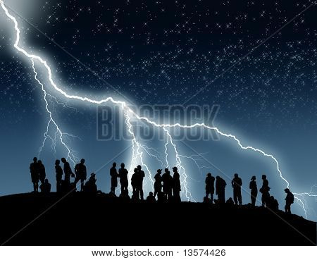 Lightning on Hill