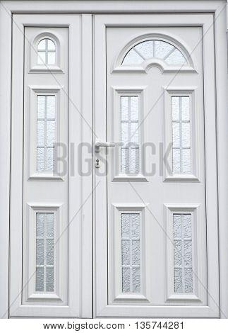 white paint door in home