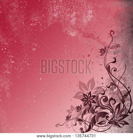 Pink vintage,floral background