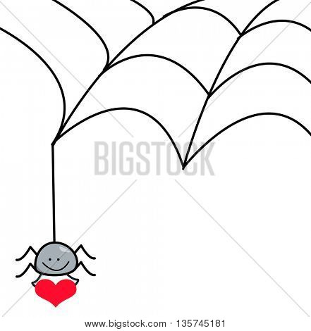 spider web and heart