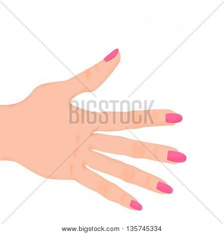 woman hand with colored nails
