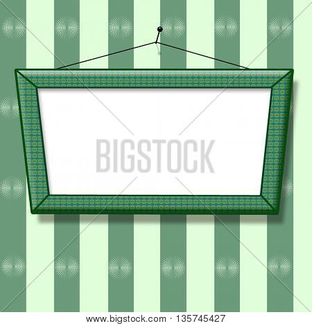 blank picture frame on the wall old fashion
