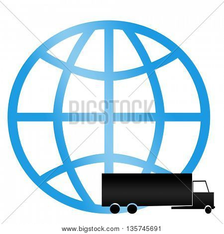 commercial freight shipping icon