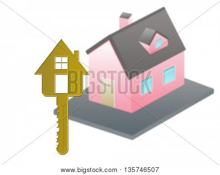isometric house House and the keys