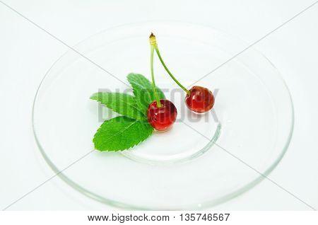 sweet fresh red cherry