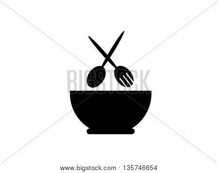 crossed fork and spoon - Restaurant menu background