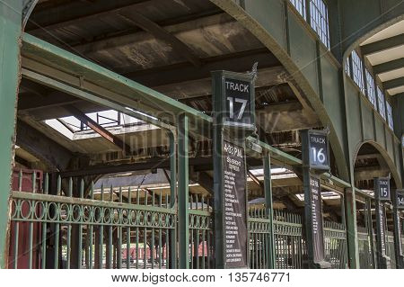 Platforms At Central Railroad In Jersey City
