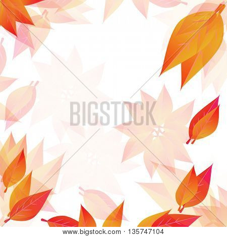 Autumn leaves background with place for text