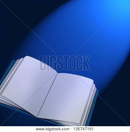Magic book with lights