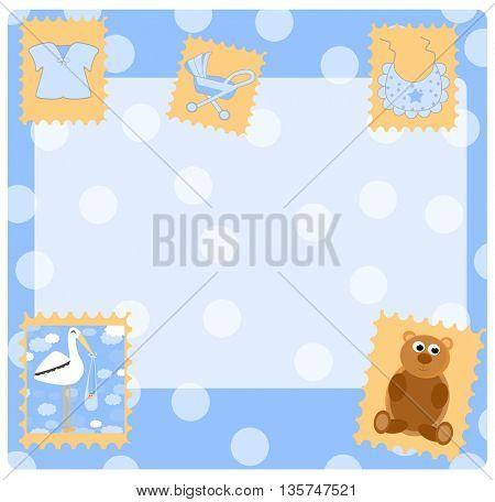 Teddy bear for  boy -  arrival announcement