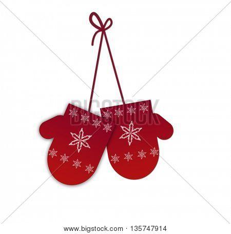 pretty glove greeting card