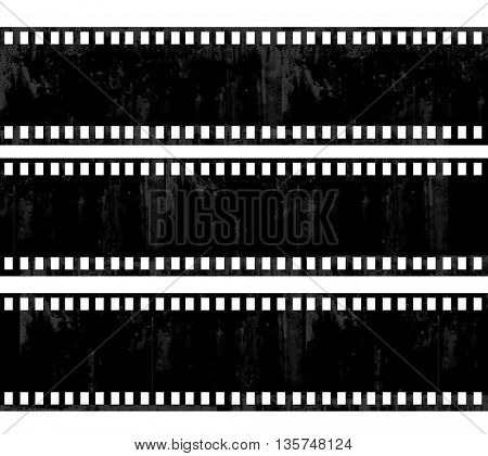 grunge film frame background with space for your text or image.