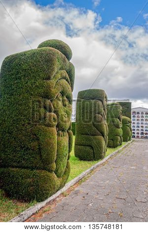 Tulcan Is The Capital Of The Province Of Carchi Known For Elaborately Trimmed Cypress Bushes Inspired More Than 300 Figures In Total