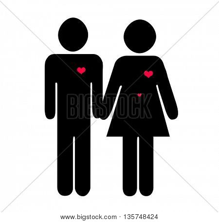 silhouettes in love,woman is pregnant