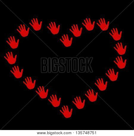heart shape made of hands, love background
