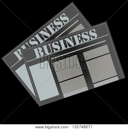newspaper icon, business news