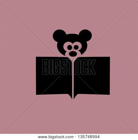 bear reading a book icon