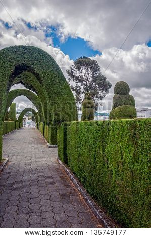 Tulcan Is Known For The Most Elaborate Topiary In The New World Where The Trees Have The Form Like Animals Archways Angels Geometric Shapes Or Incan Symbols
