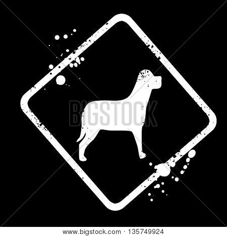 sign-silhouette of the dog