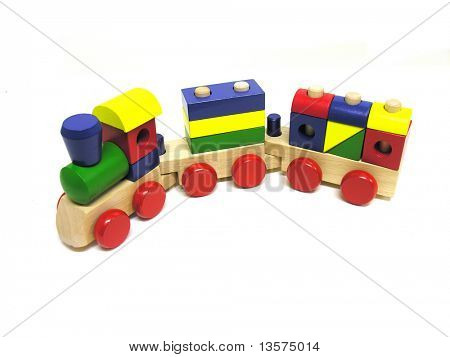 A photo of a child's toy train