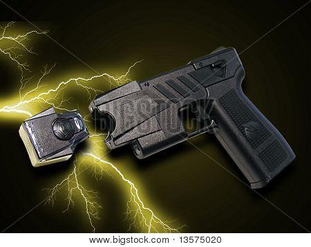 Ein Foto einer Taser-Pistole