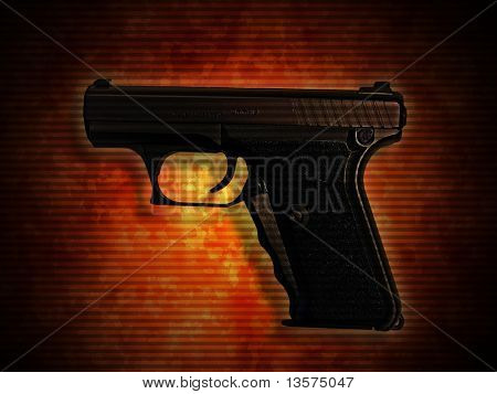 A photo of a 9mm handgun