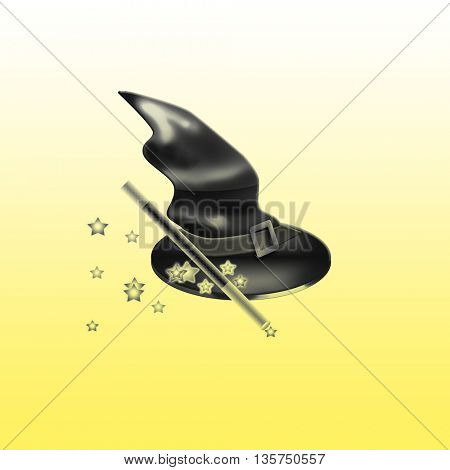 illustration of top hat of the magic